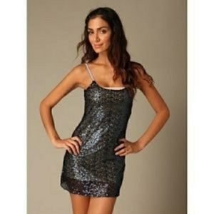 Free People Intimately Blue Sequin Dress